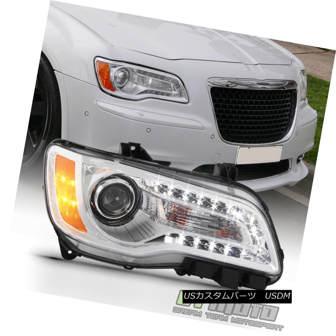 ヘッドライト 2011-2014 Chrysler 300 Halogen LED DRL Projector Right Passenger Side Headlight 2011-2014クライスラー300ハロゲンLED DRLプロジェクター右乗員サイドヘッドライト