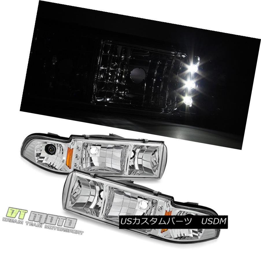 ヘッドライト 1991-1996 Chevy Caprice Impala LED Headlights w/ Built In Corner Signal Lamps 1991-1996シボレーカプリスインパラLEDコーナーランプ付きヘッドライト