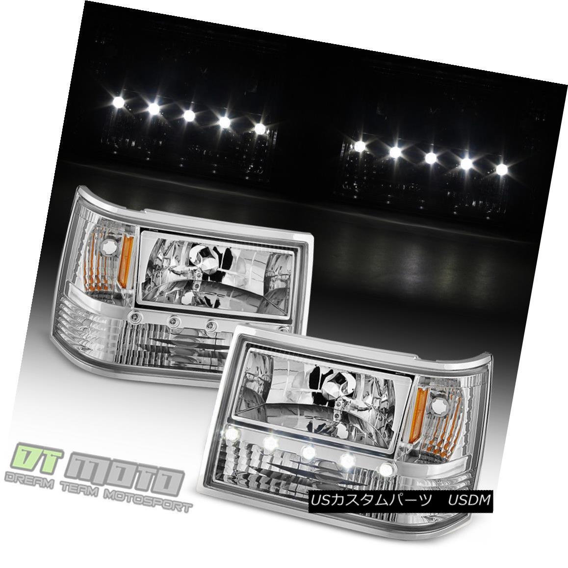 ヘッドライト 1993-1998 Jeep Grand Cherokee 6in1 LED DRL Headlights+Corner Bumper Lights 93-98 1993-1998 Jeep Grand Cherokee 6in1 LED DRLヘッドライト+コルク nerバンパーライト93-98