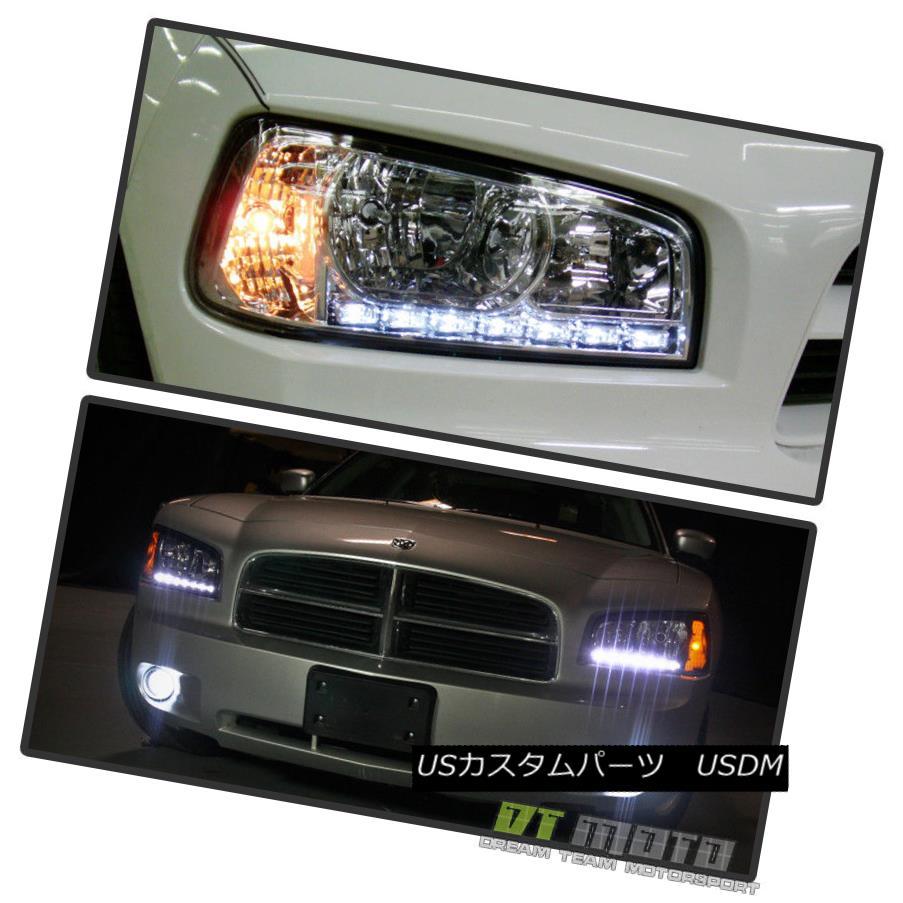 ヘッドライト 2006-2010 Dodge Charger DRL LED Headlights w/Built In Corner Turn Signal Lights 2006-2010 Dodge Charger DRL LEDヘッドライト、コーナーターンシグナルライト付き