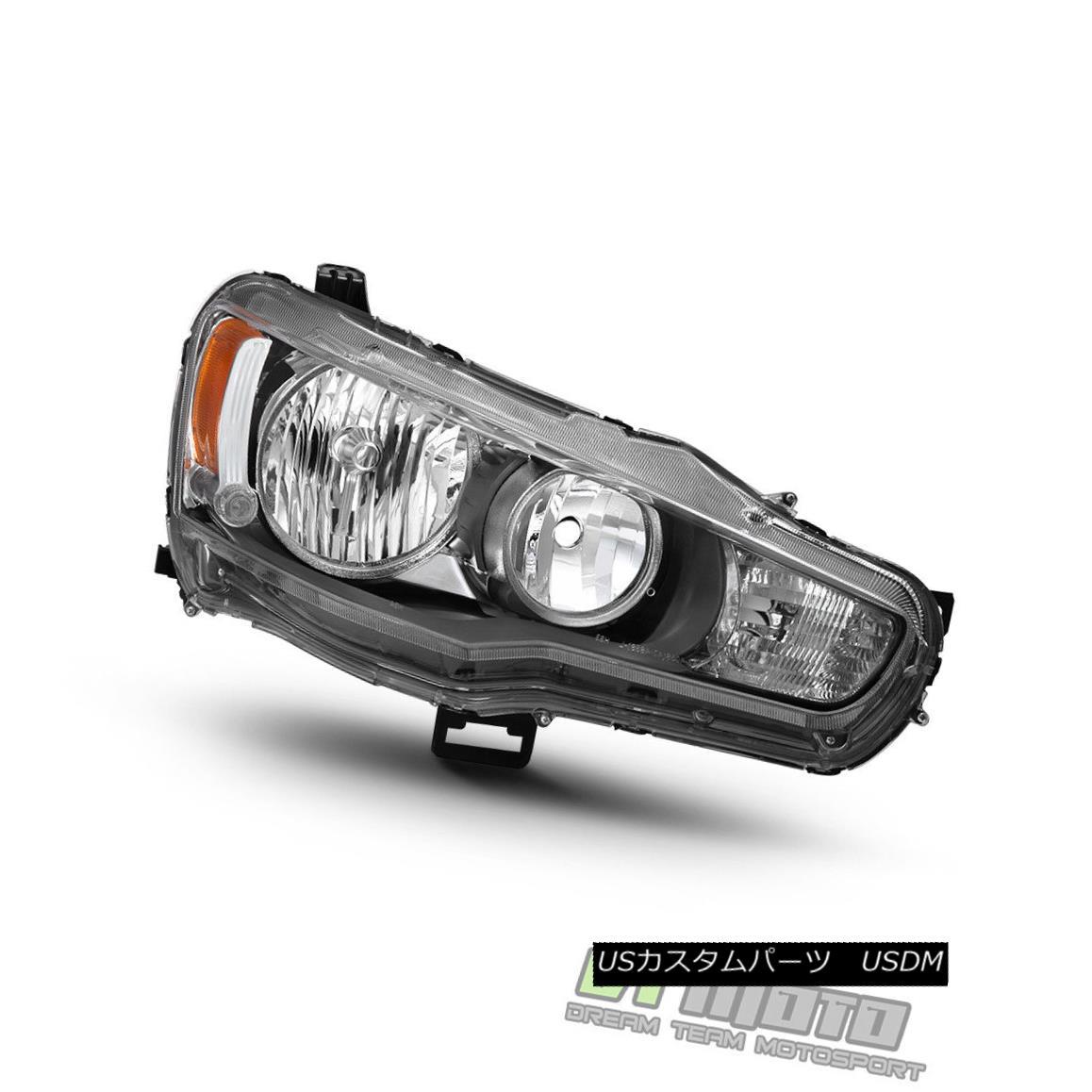 ヘッドライト 2008-2017 Mitsubishi Lancer EVO X Headlight Headlamp Replacement Passenger Side 2008-2017三菱ランサーEVO Xヘッドライトヘッドランプ交換乗客側