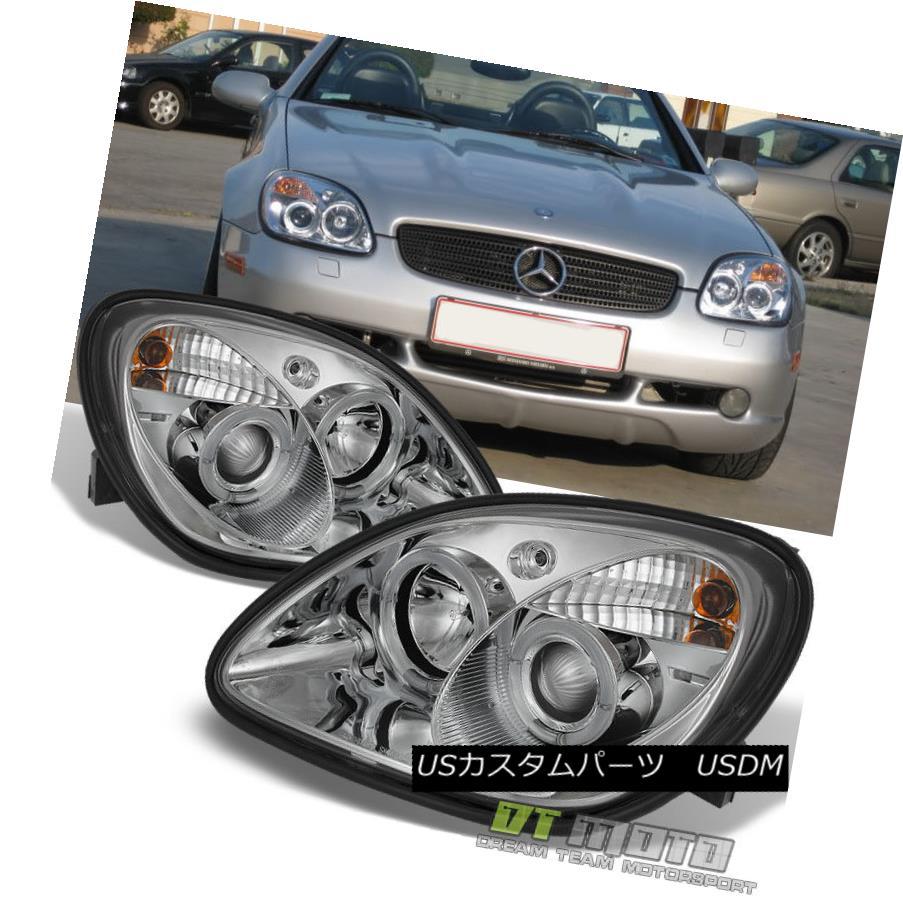 ヘッドライト 1998-2004 Mercedes Benz R170 SLK230 SLK200 SLK320 LED Halo Projector Headlights 1998-2004 Mercedes Benz R170 SLK230 SLK200 SLK320 LEDハロープロジェクターヘッドライト