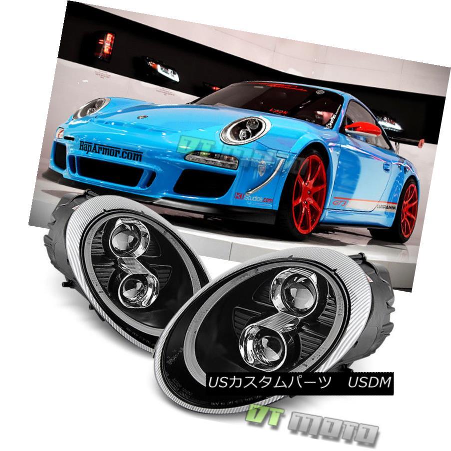 ヘッドライト Black 2005-2009 Porsche 911/997.1 LED DRL Projector Headlights [HID Version] ブラック2005-2009ポルシェ911 / 997.1 LED DRLプロジェクターヘッドライト[HIDバージョン]