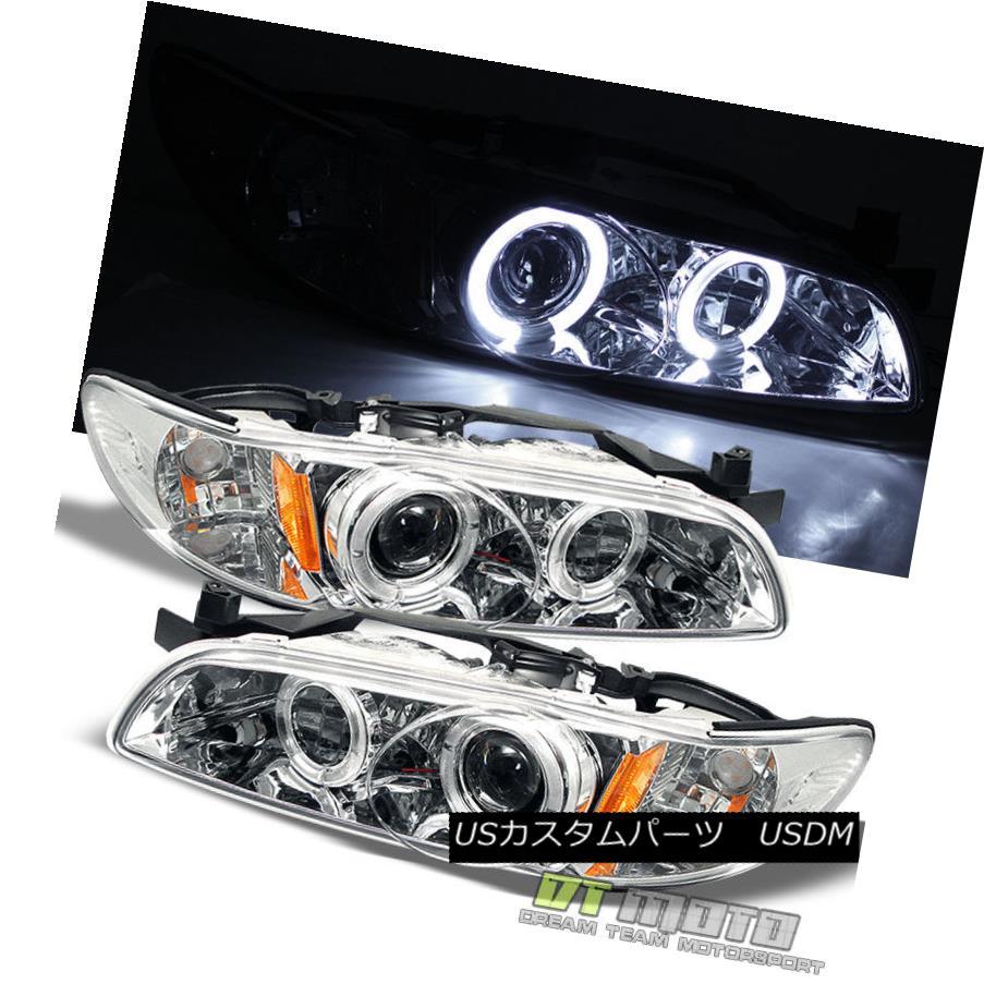 ヘッドライト 1997-2003 Pontiac Grand Prix Halo Projector LED Headlights Headlamps Left+Right 1997-2003ポンティアックグランプリヘイロープロジェクターLEDヘッドライトヘッドランプ左+右
