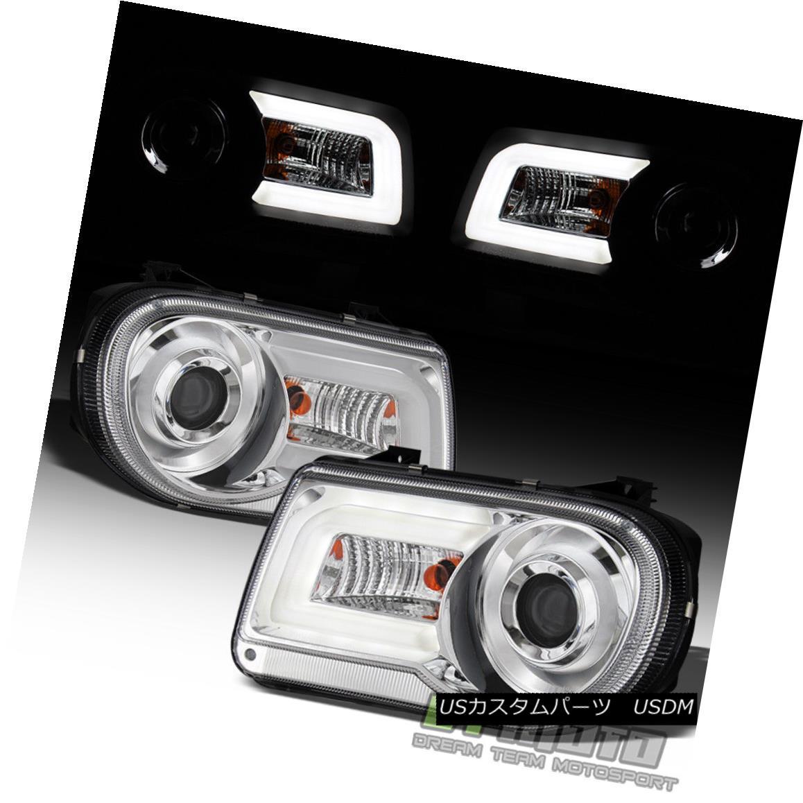 ヘッドライト 2005-2010 Chrysler 300C LED Light Tube DRL Projector Headlights Left+Right 05-10 2005-2010クライスラー300C LEDライトチューブDRLプロジェクターヘッドライト左+右05-10