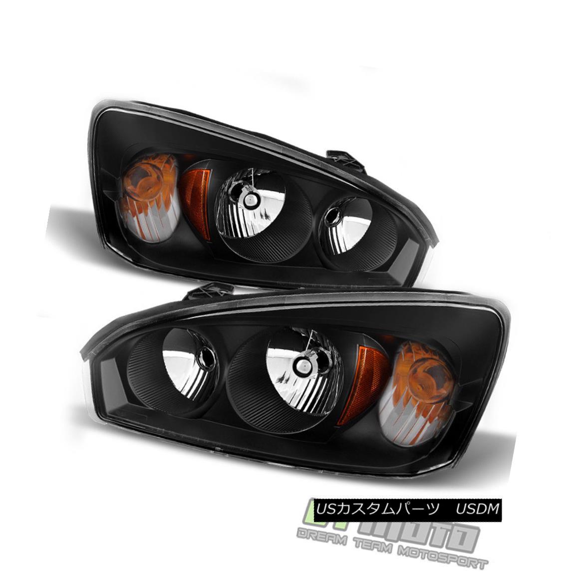 ヘッドライト Blk 2004 2005 2006 2007 2008 Chevy Malibu Headlights Headlamps 04-08 Left+Right Blk 2004 2005 2006 2007 2008シボレーマリブヘッドライトヘッドランプ04-08 Left + Right