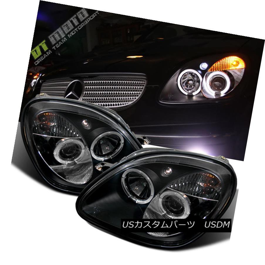 ヘッドライト Black 1998-2004 Mercedes-Benz R170 SLK230 SLK320 LED Halo Projector Headlights ブラック1998-2004 Mercedes-Benz R170 SLK230 SLK320 LEDハロープロジェクターヘッドライト