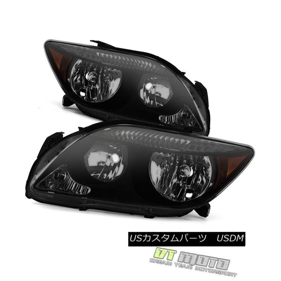 ヘッドライト Black Smoked 2005-2007 Scion TC Headlights Headlamps Lights 05 06 07 Left+Right ブラックスモーク2005-2007シオンTCヘッドライトヘッドランプライト05 06 07左+右