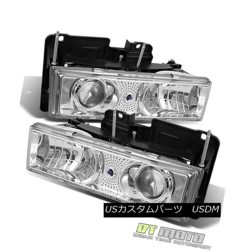 ヘッドライト 88-98 Chevy C/K 1500 C10 Full Size Projector Headlights Lights Lamps Left+Right 88-98シボレーC / K 1500 C10フルサイズプロジェクターヘッドライトライトランプ左右+右