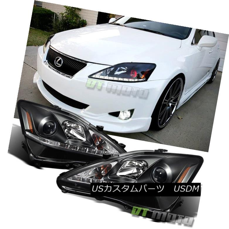 ヘッドライト 2006-2010 Lexus IS250 IS350 SMD LED DRL Projector Headlights 06-10 Left+Right 2006-2010 Lexus IS250 IS350 SMD LED DRLプロジェクターヘッドライト06-10左+右