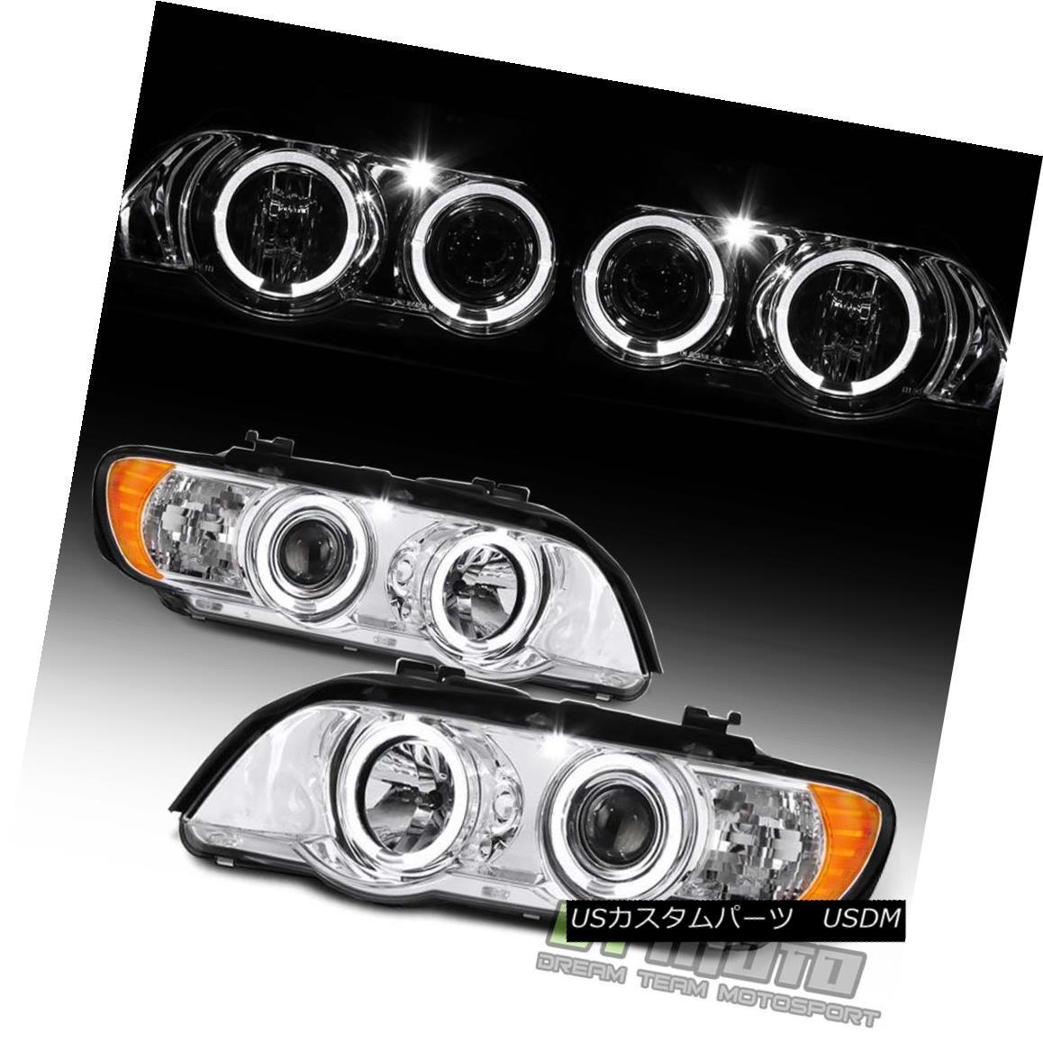 ヘッドライト 2000 2001 2002 2003 BMW E53 X5 LED Angel Eye Halo Projector Headlights Headlamps 2000 2001 2002 2003 BMW E53 X5 LEDエンジェルアイハロープロジェクターヘッドライトヘッドランプ