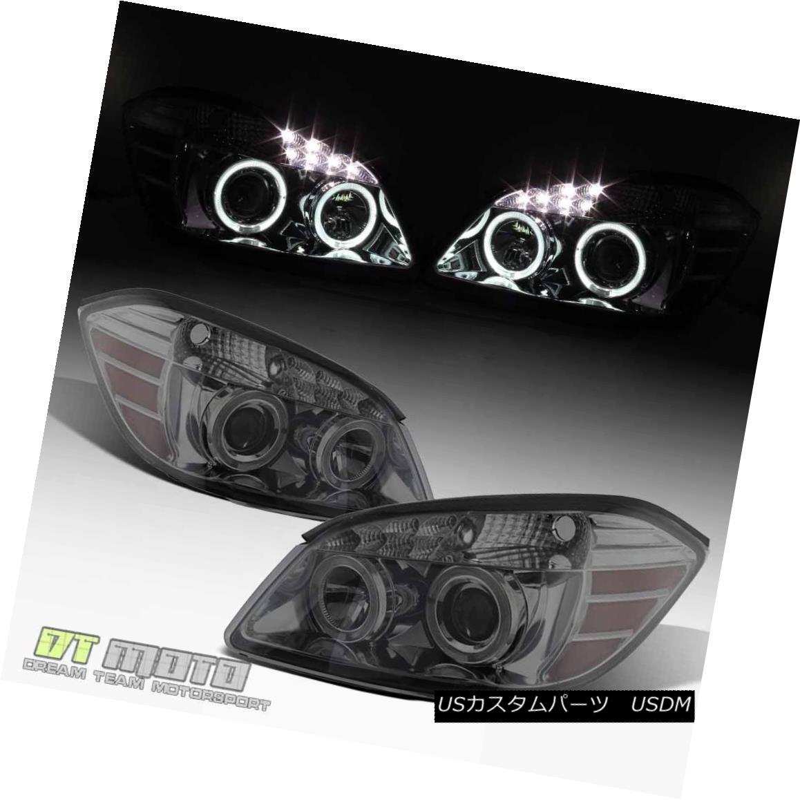 ヘッドライト Smoke 2005-2010 Chevy Cobalt 07-10 Pontiac G5 SMD LED Halo Projector Headlights Smoke 2005-2010 Chevy Cobalt 07-10 Pontiac G5 SMD LEDハロープロジェクターヘッドライト