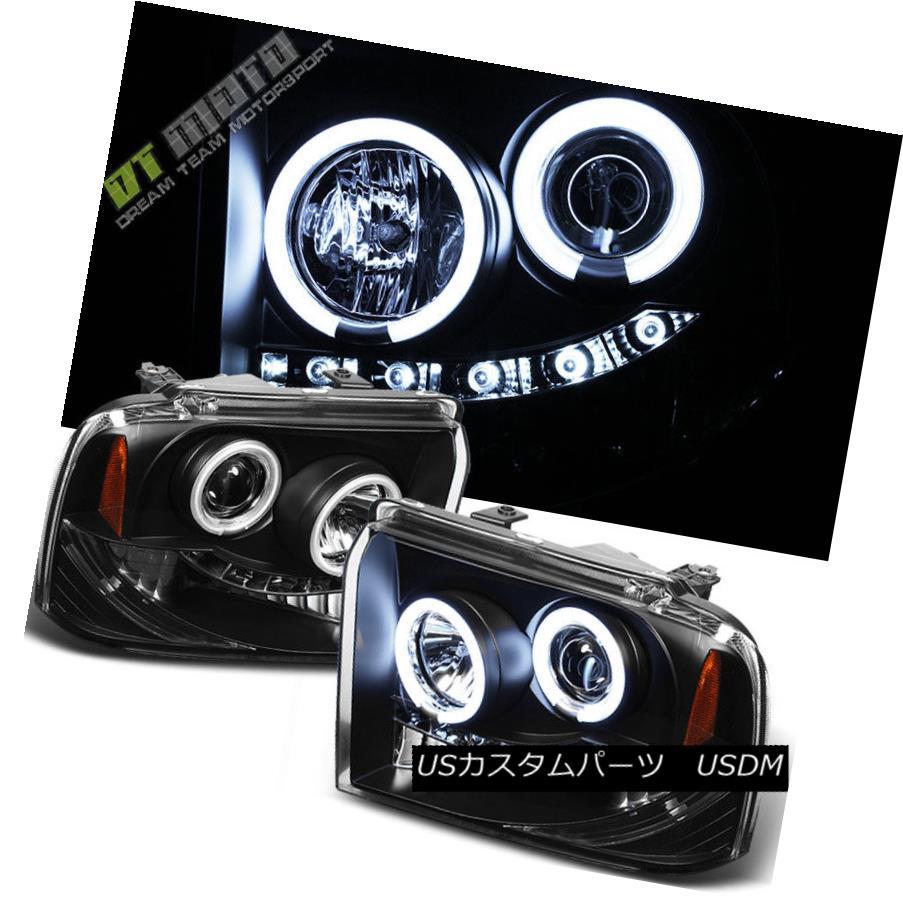ヘッドライト Black 2005-2007 Ford F250 F350 F450 Superduty LED CCFL Halo Projector Headlights ブラック2005-2007 Ford F250 F350 F450 Superduty LED CCFL Haloプロジェクターヘッドライト
