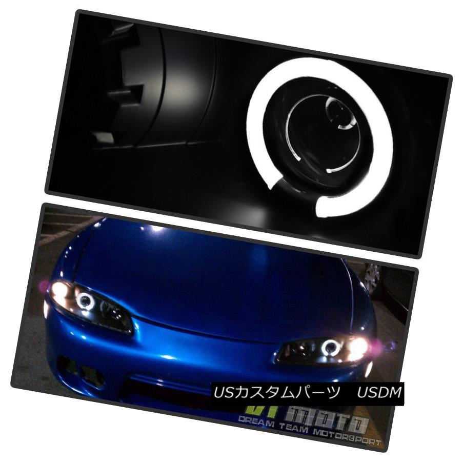 ヘッドライト Blk 1997-1999 Mitsubishi Eclipse Halo Projector Headlights Lamps Pair Left+Right Blk 1997-1999 Mitsubishi Eclipse Haloプロジェクターヘッドライトランプペア左右+右