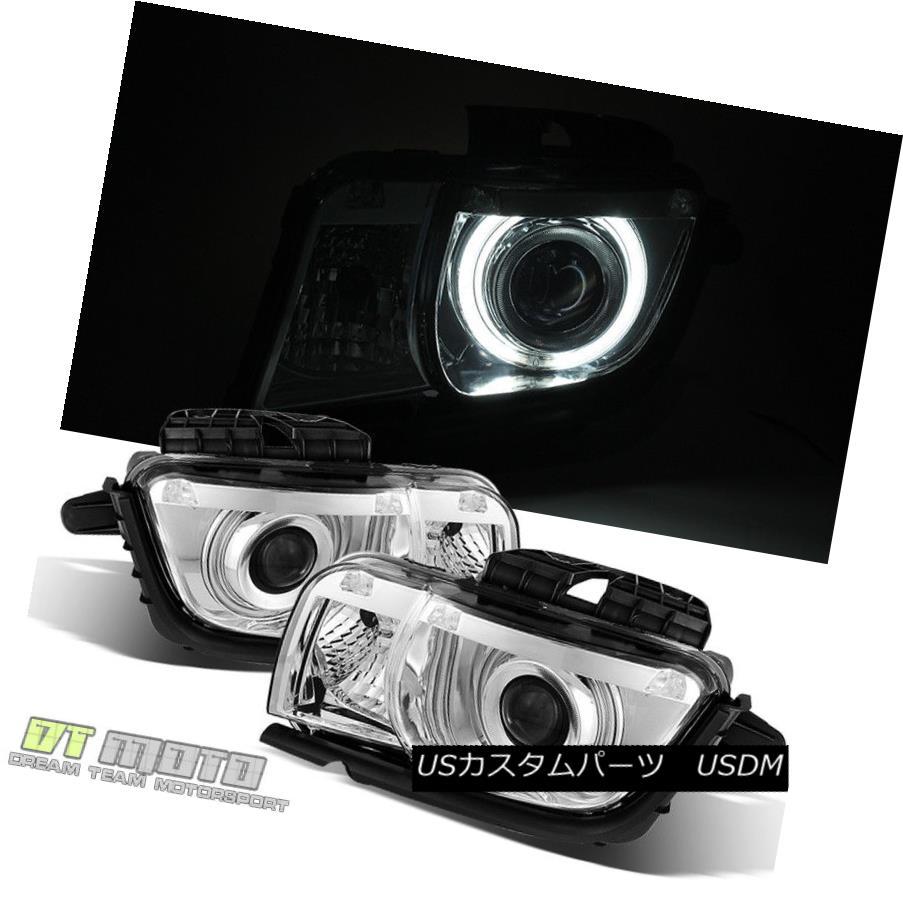 ヘッドライト 2010 2011 2012 2013 Chevy Camaro CCFL Halo Projector Headlights Lights 10-13 2010 2011 2012 2013シボレーカマロCCFLハロープロジェクターヘッドライトライト10-13