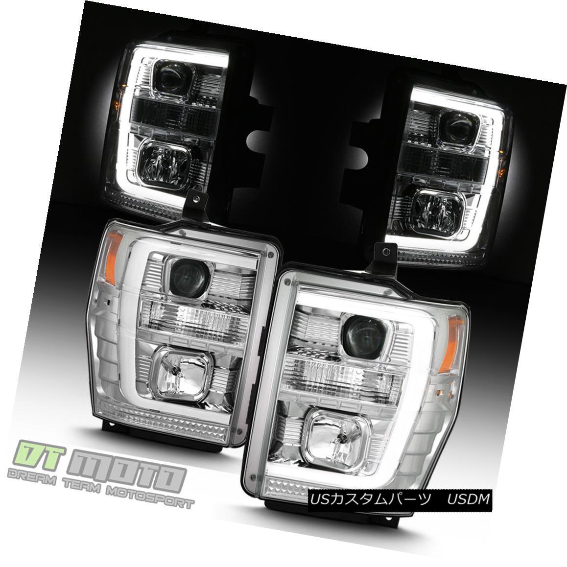 ヘッドライト 2008 2009 2010 Ford F250 F350 F450 LED Light Tube Projector Headlights Headlamps 2008年2009年2010年Ford F250 F350 F450 LEDライトチューブプロジェクターヘッドライトヘッドランプ
