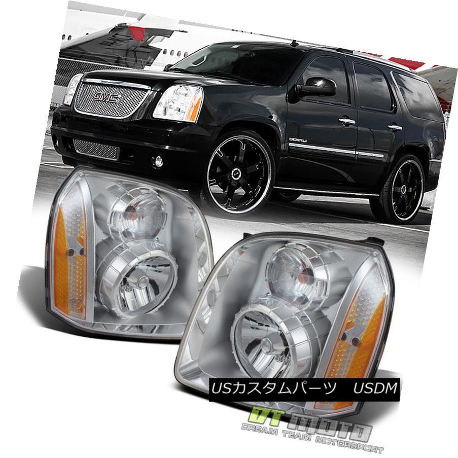 ヘッドライト 2007-2014 GMC Yukon Denali / XL Denali Headlights Replacement Left+Right 07-14 2007-2014 GMCユーコンデナリ/ XLデナリヘッドライト交換左+右07-14