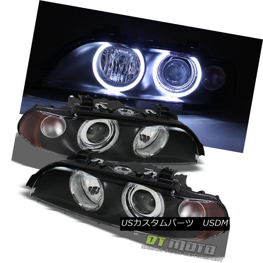 ヘッドライト Black 1997-2003 BMW E39 5-Series 525i 528I 530i 540I Halo Projector Headlights ブラック1997-2003 BMW E39 5シリーズ525i 528I 530i 540Iハロープロジェクターヘッドライト