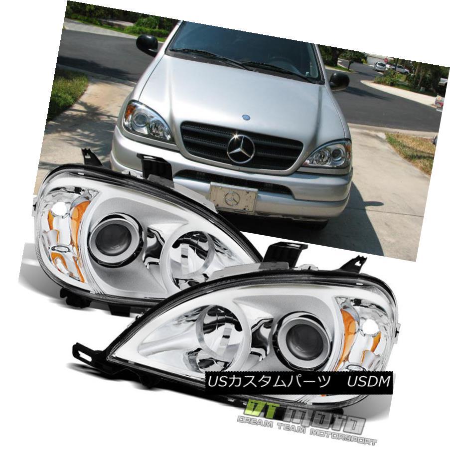 ヘッドライト 1998-2005 Mercedes-Benz W163 ML320 ML430 Halogen Headlights Headlamps Left+Right 1998?2005年メルセデスベンツW163 ML320 ML430ハロゲンヘッドライトヘッドランプ左+右