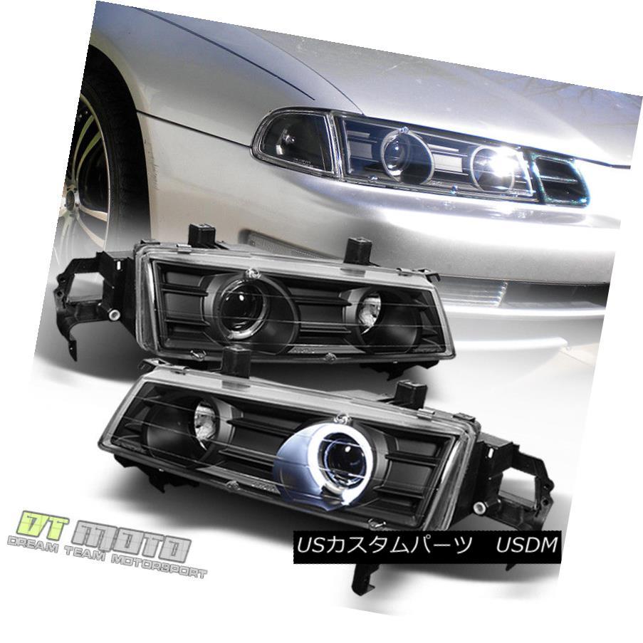 ヘッドライト For 1992-1996 Honda Prelude Angel Eye Halo Projector Headlights Left+Right 92-96 1992-1996ホンダプレリュードエンジェルアイハロープロジェクターヘッドライト左+右92-96