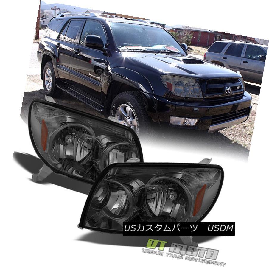 ヘッドライト Smoke 2003 2004 2005 Toyota 4Runner Headlights Headlamps 03 04 05 Set Left+Right スモーク2003 2004 2005トヨタ4Runnerヘッドライトヘッドランプ03 04 05セット左+右