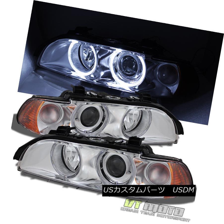 ヘッドライト 1997-2003 BMW E39 5-Series 525i 528I 530i 540i LED Halo Projector Headlights Set 1997-2003 BMW E39 5シリーズ525i 528I 530i 540i LEDハロープロジェクターヘッドライトセット