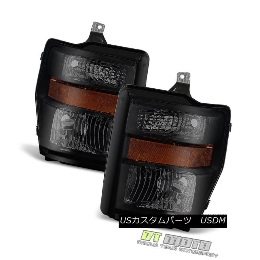 ヘッドライト Black Smoke 2008-2010 Ford F250 F350 SuperDuty Headlights Headlamps Left+Right ブラックスモーク2008-2010 Ford F250 F350 SuperDutyヘッドライトヘッドランプLeft + Right
