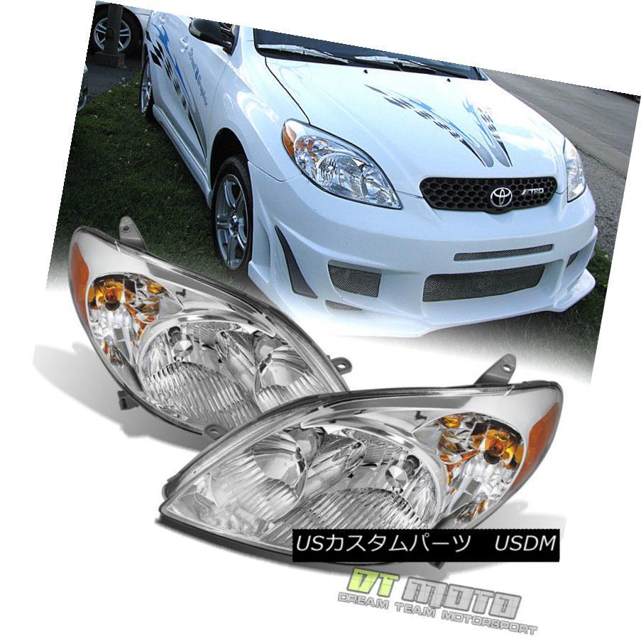 ヘッドライト 2003-2008 Toyota Matrix Replacement Headlights Headlamps Pair 03-08 Left+Rght 2003-2008トヨタマトリックス交換ヘッドライトヘッドランプペア03-08左+右