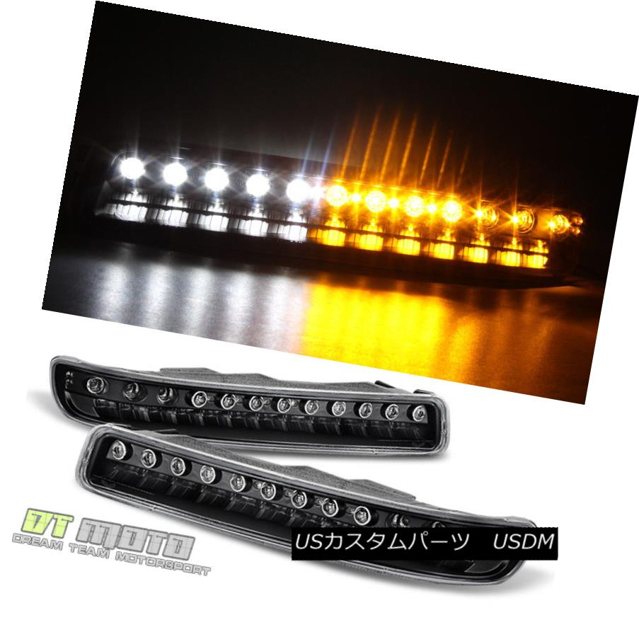 ヘッドライト Blk 1999-2006 GMC Sierra Yukon LED Bumper Parking Signal Lights Lamps Left+Right Blk 1999-2006 GMC Sierra Yukon LEDバンパー駐車信号灯ランプ左右+