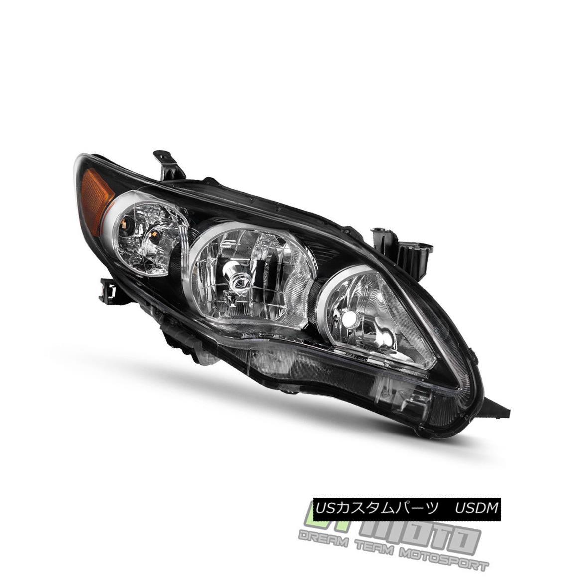 ヘッドライト Black 2011-2013 Toyota Corolla S/XRS Headlight Headlamp 11 12 13 Passenger Side ブラック2011-2013トヨタカローラS / XRSヘッドライトヘッドランプ11 12 13乗客側