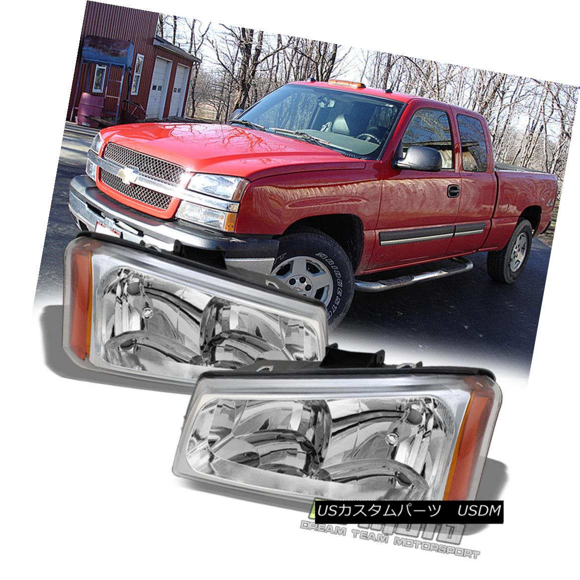ヘッドライト 2003-2006 Chevy Silverado 1500 2500 3500 Avalanche Crystal Headlights Headlamps 2003-2006シボレーシルバラード1500 2500 3500アバランシェクリスタルヘッドライトヘッドランプ