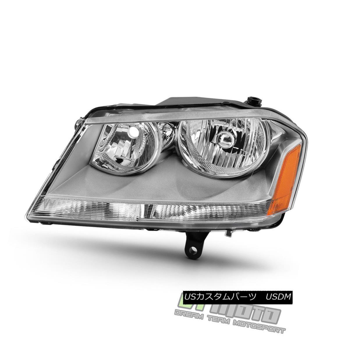 ヘッドライト Replacement 2008-2014 Dodge Avenger Headlight Headlamp 08-14 Left Driver Side LH 交換2008-2014ダッジアヴェンジャーヘッドライトヘッドランプ08-14左ドライバサイドLH