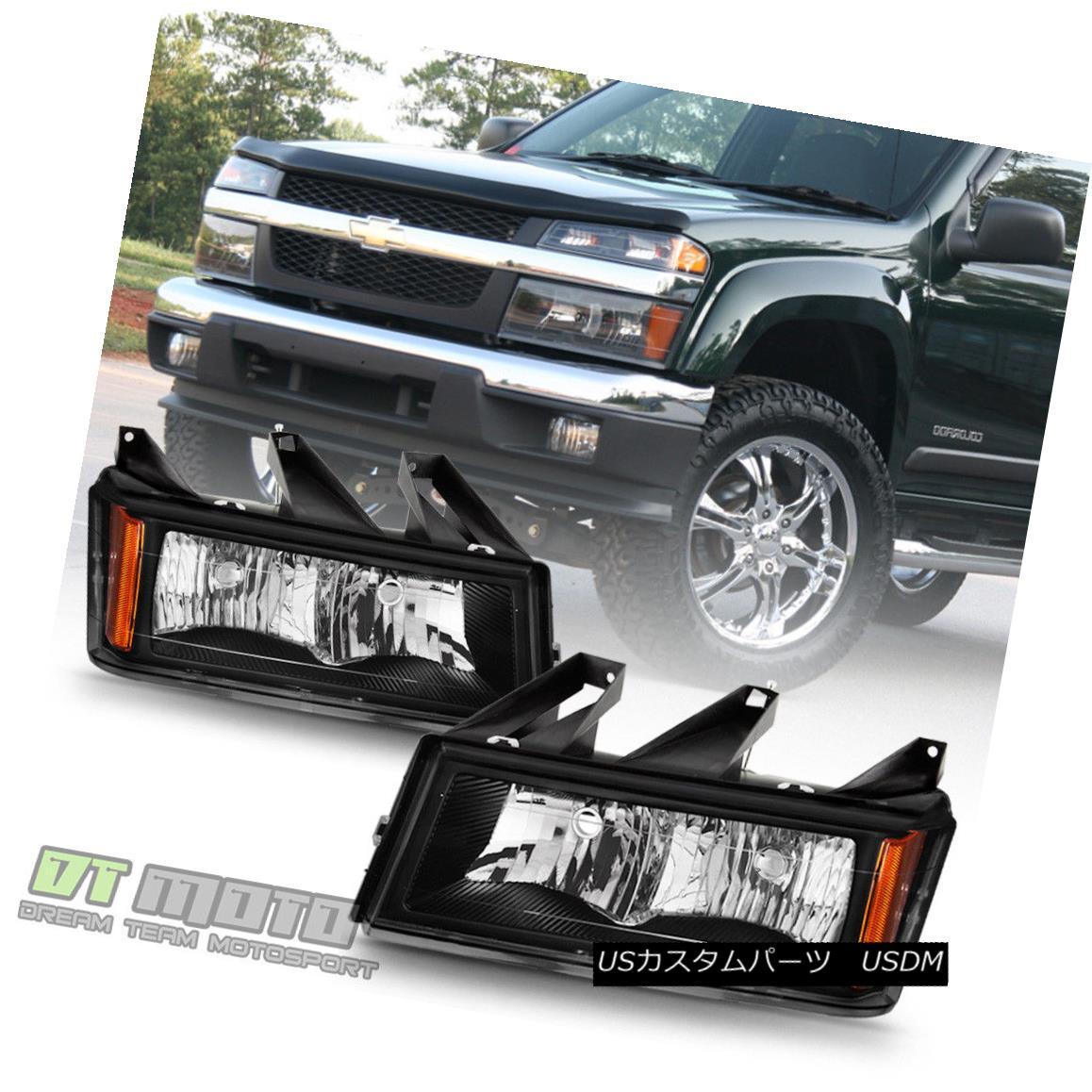 ヘッドライト 2004-2012 Chevy Colorado GMC Canyon Pickup Truck Headlights Headlamps Left+Right 2004年?2012年シボレー・コロラド州GMCキャニオンピックアップトラックヘッドライトヘッドランプ左+右