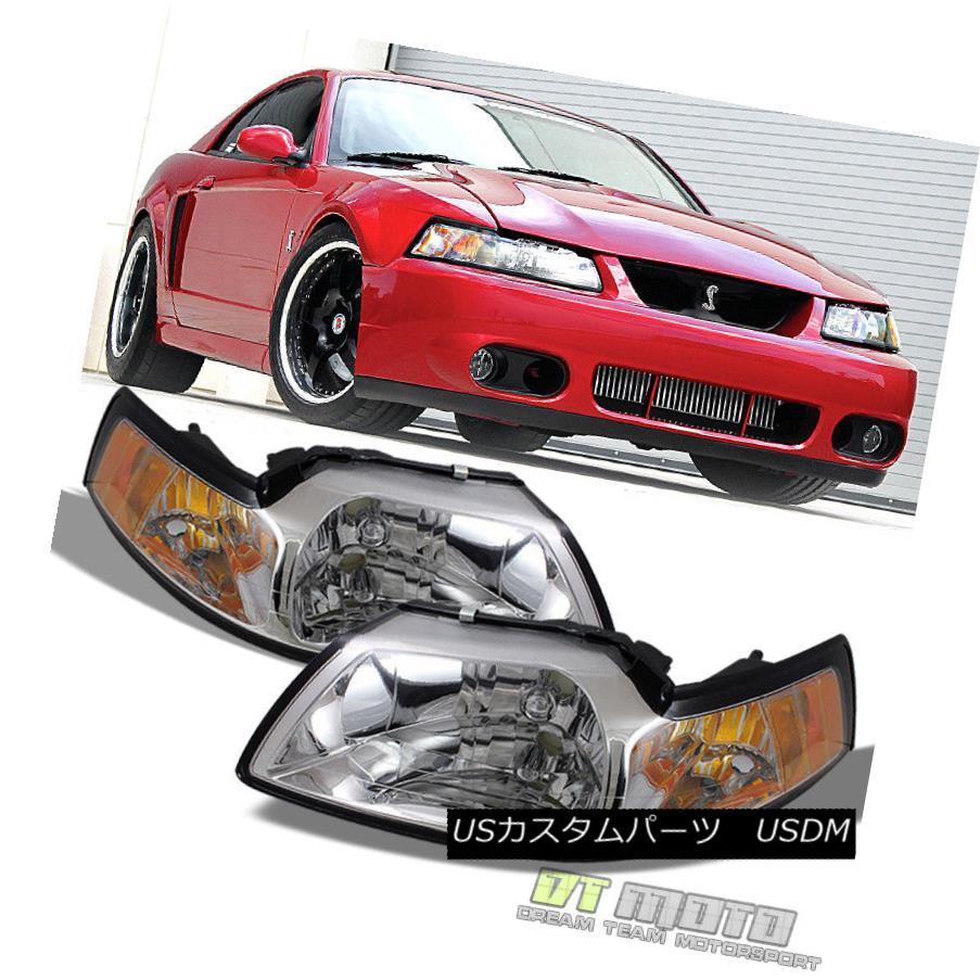 ヘッドライト 1999 2000 2001 2002 2003 2004 Ford Mustang Headlights Headlamps Left+Right 99-04 1999 2000 2001 2002 2003 2004フォードマスタングヘッドライトヘッドランプ左右99-04