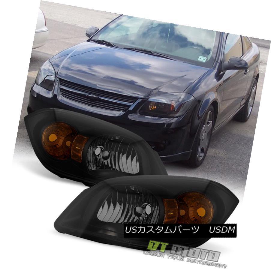 ヘッドライト Blk Smoke 2005-2010 Chevy Cobalt 07-10 Pontiac G5 Headlights Headlamp Left+Right Blk煙2005-2010シボレーコバルト07-10ポンティアックG5ヘッドライトヘッドランプ左+右