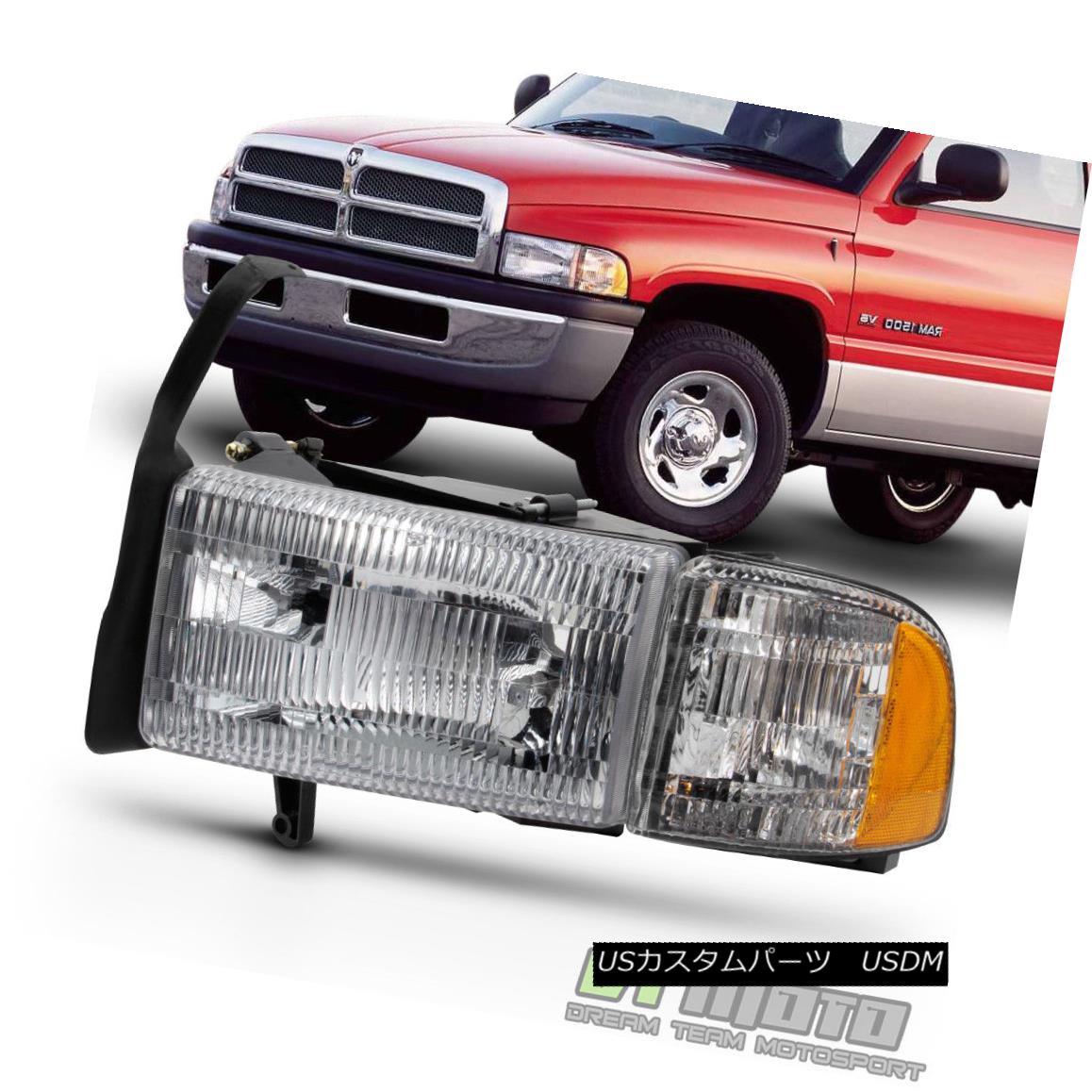 ヘッドライト 1994-2001 Dodge Ram 1500 94-02 2500 3500 Headlight Headlamp w/Corner Driver Side 1994-2001 Dodge Ram 1500 94-02 2500 3500ヘッドライトヘッドランプ(コーナー側)