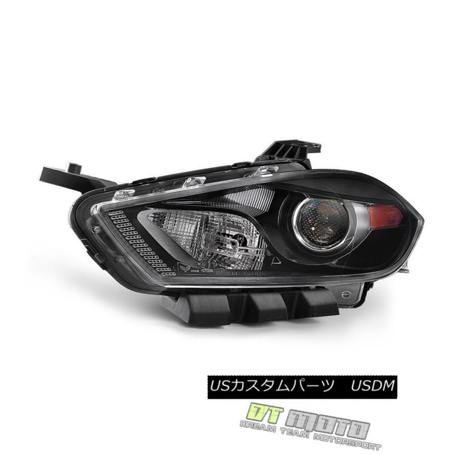 ヘッドライト 2013-2016 Dodge Dart Halogen w/Black Bezel Replacement Headlights LH Driver Side 2013年?2016年ダッジダートハロゲン/ブラックベゼル交換ヘッドライトLHドライバーサイド