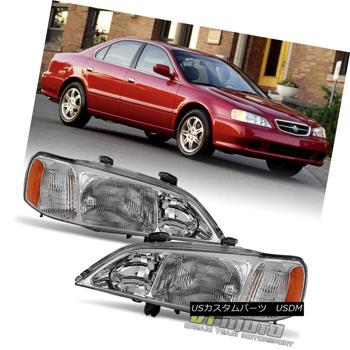 ヘッドライト 1999 2000 2001 Acura TL Headlights Headlamps Replacement 99 00 01 Set Left+Right 1999 2000 2001 Acura TLヘッドライトヘッドランプ交換99 00 01左+右セット