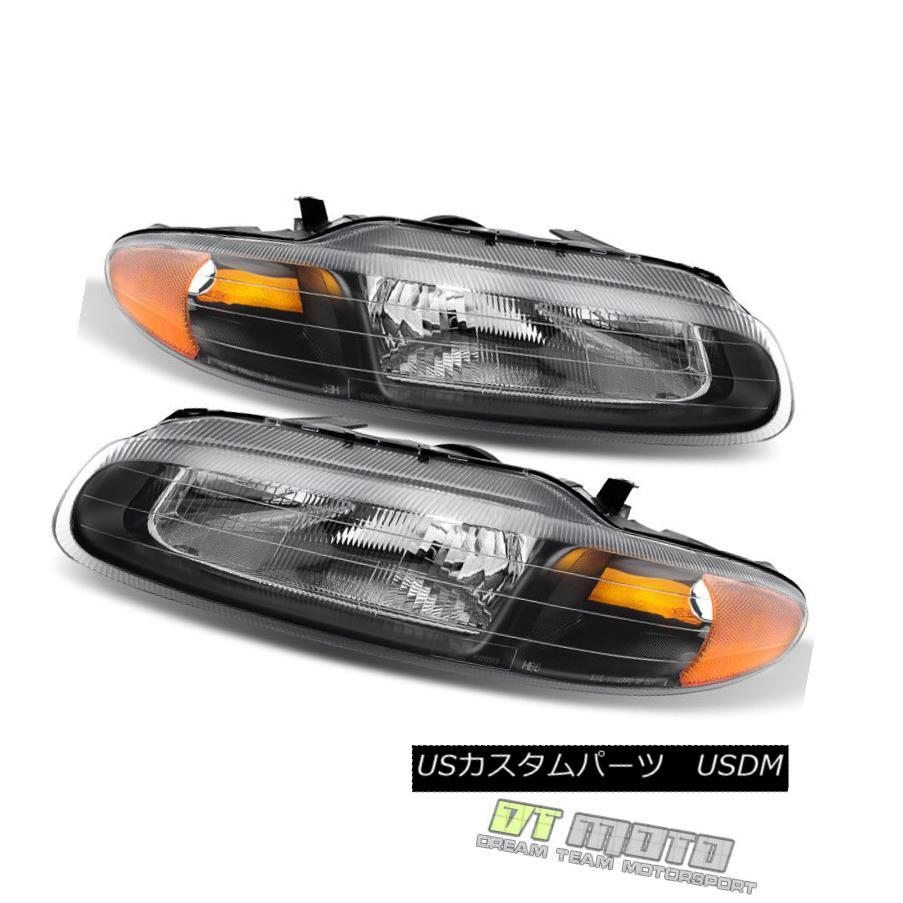ヘッドライト Blk 1996-2000 Chrysler Sebring Convertible Headlights Replacement Left+Right Set Blk 1996-2000クライスラーセブリングコンバーチブルヘッドライト交換左+右セット