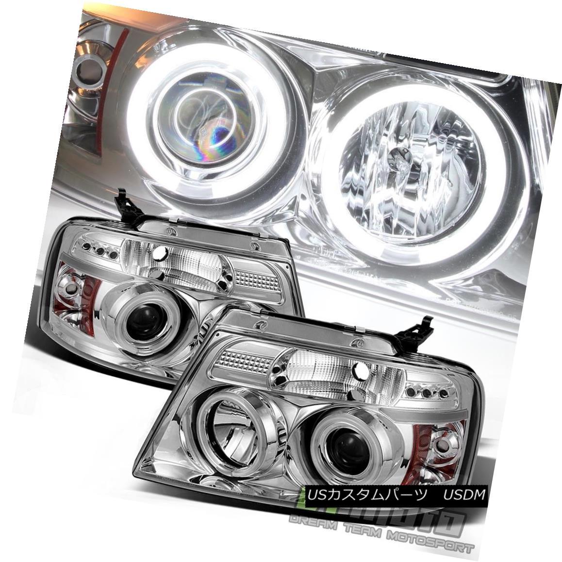 ヘッドライト 2004-2008 Ford F150 F-150 LED CCFL Projector Headlights Headlamps Left+Right Set 2004-2008 Ford F150 F-150 LED CCFLプロジェクターヘッドライトヘッドランプ左右セット