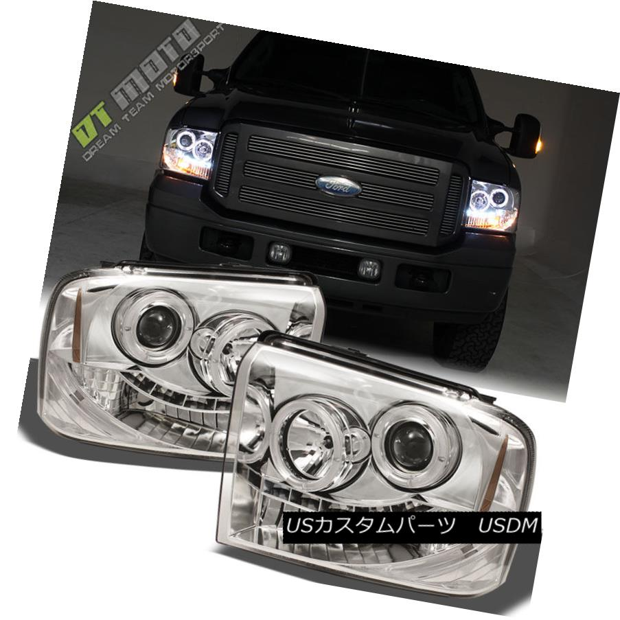 ヘッドライト 2005 2006 2007 Ford F250 F350 F450 Superduty LED Halo Projector Headlights 05-07 2005年2006年2007年Ford F250 F350 F450 Superduty LED Haloプロジェクターヘッドライト05-07