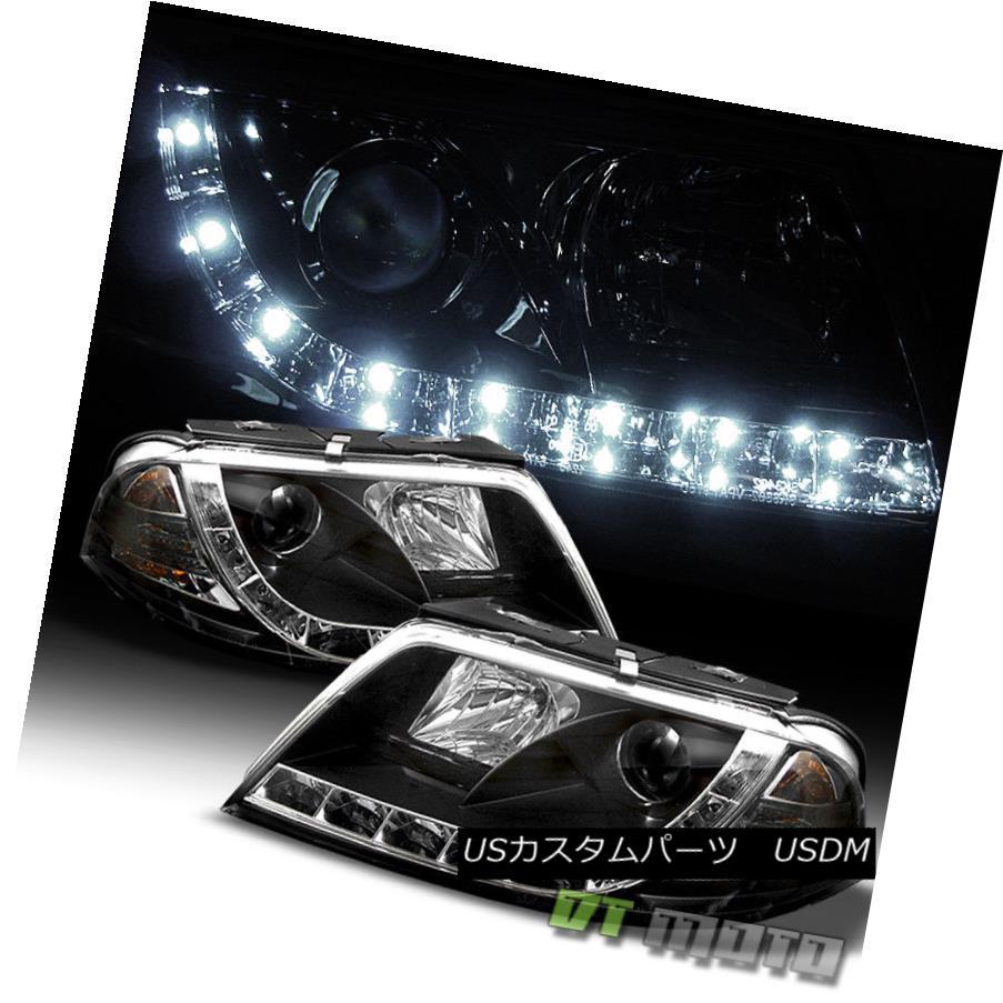ヘッドライト Black 2001-2005 Volkswagen Passat LED DRL Daytime Running Projector Headlights ブラック2001-2005フォルクスワーゲンパサートLED DRL昼間走行プロジェクターヘッドライト