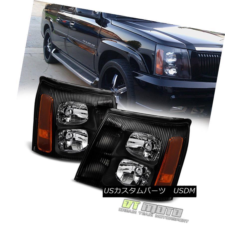 ヘッドライト Black 2003-2006 Cadillac Escalade Headlights Lights 03 04 05 06 (HID Model Only) ブラック2003-2006キャデラックエスカレードヘッドライト03 04 05 06(HIDモデルのみ)