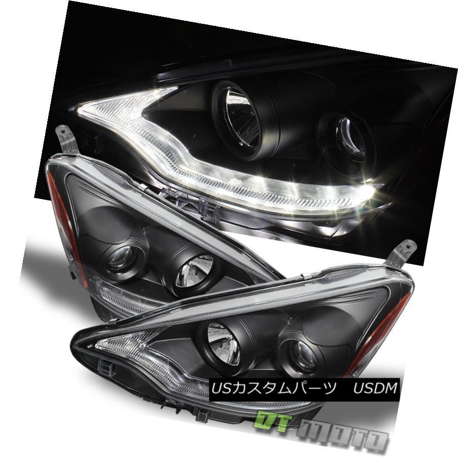 ヘッドライト Black 2012-2014 Toyota Prius C Projector Headlights w/Daytime LED Running Light ブラック2012-2014トヨタプリウスCプロジェクターヘッドライト(昼間LEDランニングライト付き)