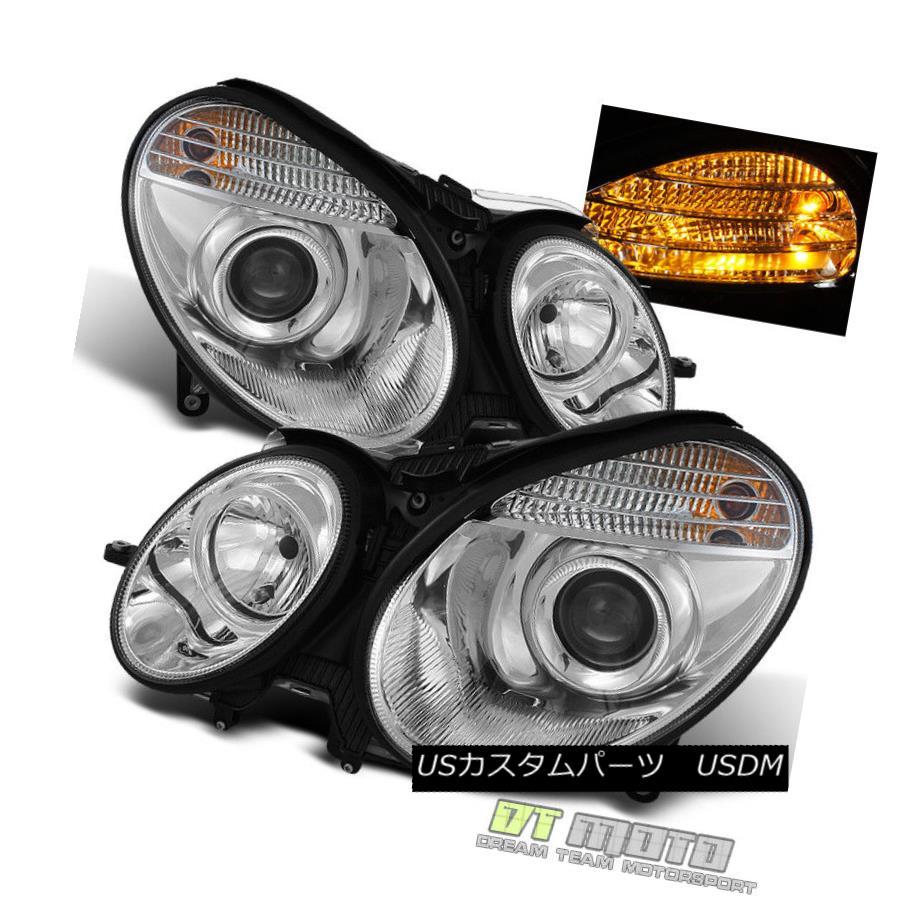 ヘッドライト 2007-2009 Mercedes Benz W211 E-Class Projector Headlights Headlamps Left+Right 2007 - 2009年メルセデスベンツW211 Eクラスプロジェクターヘッドライトヘッドランプ左+右