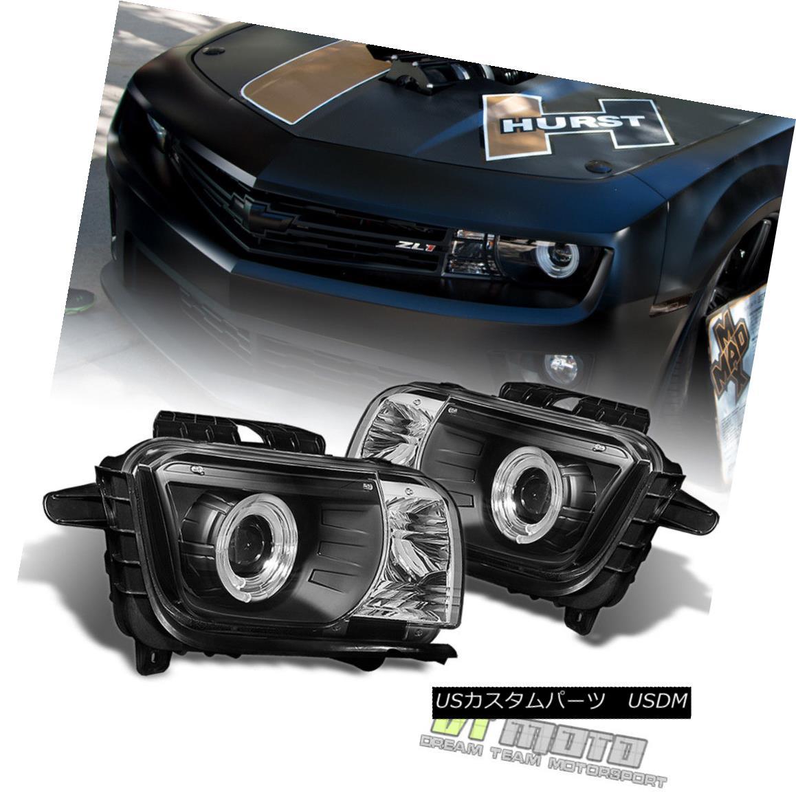 ヘッドライト Blk 2010-2013 Chevy Camaro LED Halo Projector Headlights Headlamps 10 11 12 13 Blk 2010-2013 Chevy Camaro LED Haloプロジェクターヘッドライトヘッドランプ10 11 12 13
