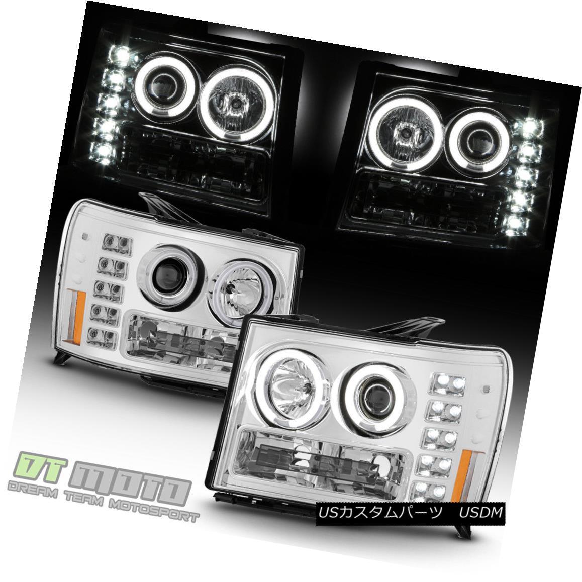 ヘッドライト 2007-2013 GMC Sierra 1500 2500HD 3500HD LED CCFL Projector Headlights Headlamps 2007-2013 GMC Sierra 1500 2500HD 3500HD LED CCFLプロジェクターヘッドライトヘッドランプ