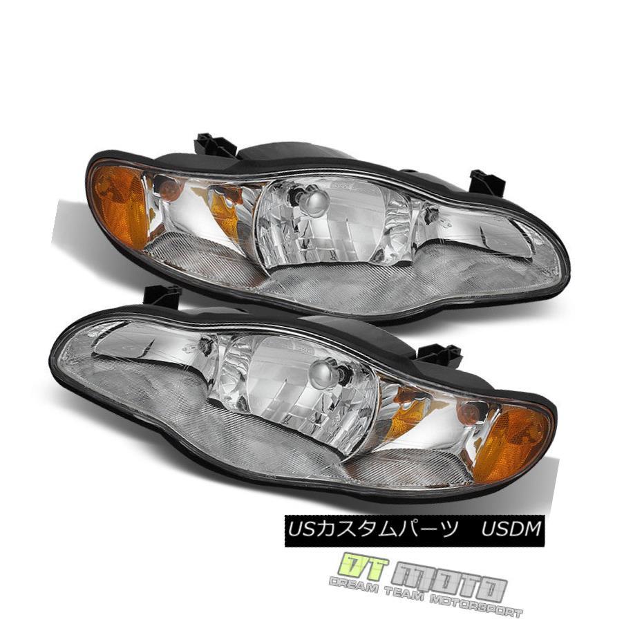 ヘッドライト 2000-2005 Chevy Monte Carlo Replacement Headlights Lamps Set 00 01 02 03 04 05 2000-2005シボレーモンテカルロ代替ヘッドライトランプセット00 01 02 03 04 05