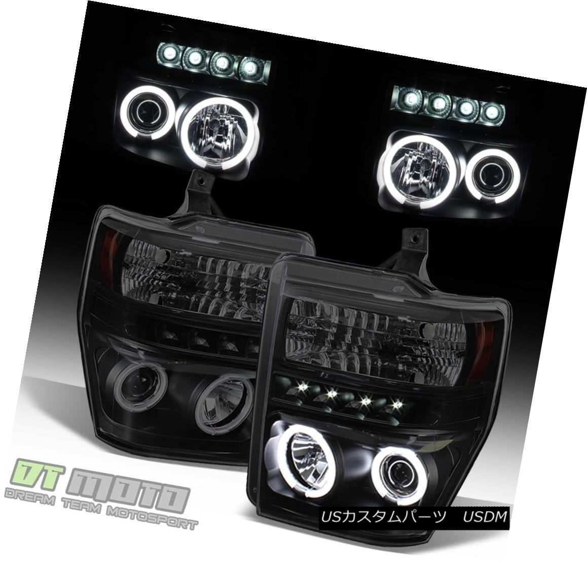 ヘッドライト Black Smoke 2008-2010 Ford F250 F350 SD LED CCFL Projector Headlights Headlamps ブラックスモーク2008-2010フォードF250 F350 SD LED CCFLプロジェクターヘッドライトヘッドランプ
