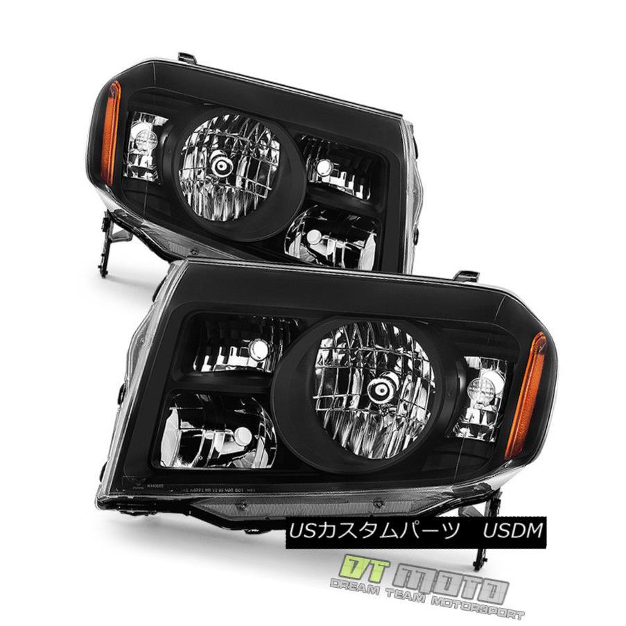 ヘッドライト For Black 2009 2010 2011 Honda Pilot Headlights Headlamps Left+Right Aftermarket ブラック2009年2010年用Hondaパイロットヘッドライトヘッドランプ左+右アフターマーケット